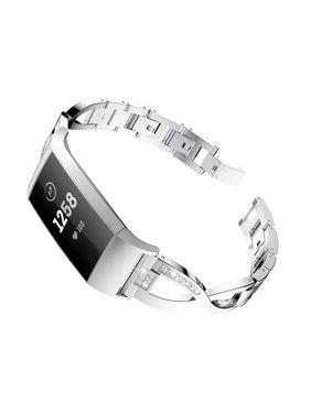 ee4d382f6fd Product Image EEEKit Compatible with Fitbit Charge 3 Bands, Replacement  Stainless Steel Metal Wrist Smart Watch Band