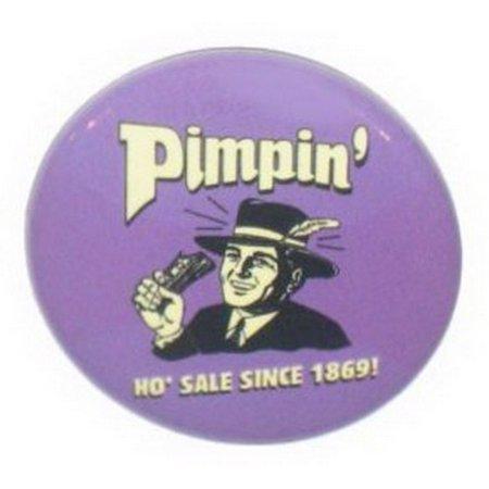 Retro Spoofs Pimpin Since 1869 Button CB425](Pimpin Purple)