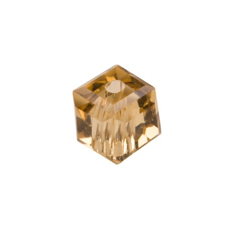 Topaz Cube Crystal Beads 4mm, 90 Beads / string of 16 inchs