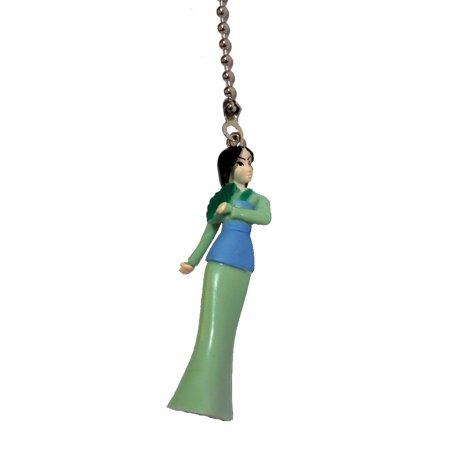 Princess Pull (Disney Classic Movie Princess Mulan Skinny Green Ceiling Fan)