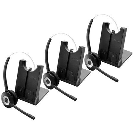 Jabra PRO 925 Dual Connectivity Mono Wireless Headset  w/ Flex Type Boom Arm (3-Pack) Flex Boom Mic