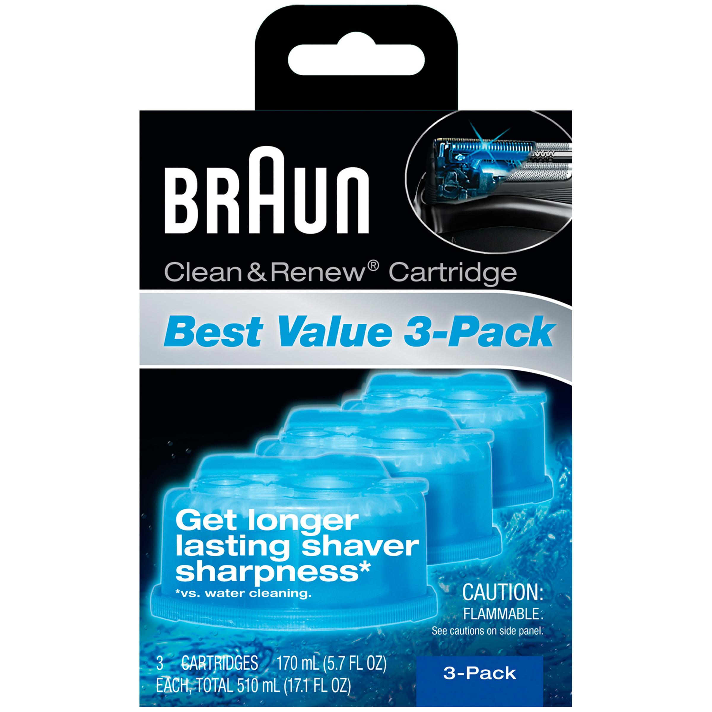 Braun Clean & Renew™ Cleaner Cartridges 3-5.7 fl. oz. Box