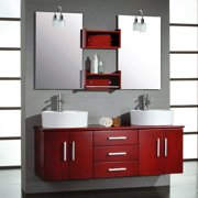 Cambridge Plumbing Moonstone 59'' Double Bathroom Vanity Set with Mirror