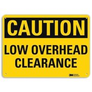 LYLE U4-1516-RA_10X7 Safety Sign,Overhead Clearance,7in.H G1812968