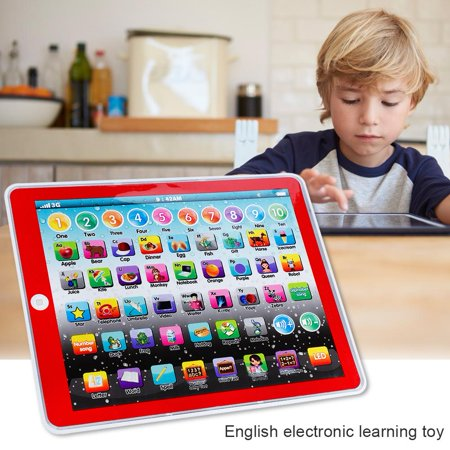 Yosoo Kids Children Tablet Pad Electronic Preschool English Learning Numbers Letters Teach Toy,Tablet Pad Toy, English Learning Pad Toy