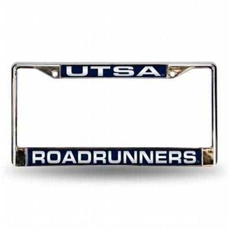 Texas San Antonio Roadrunners NCAA Chrome Laser Cut License Plate Frame