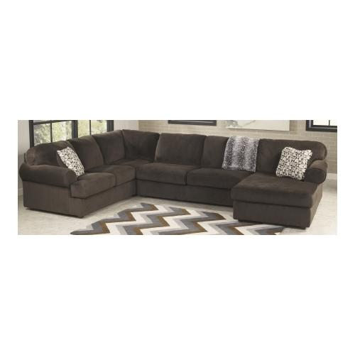 ashley jessa place 3pc fabric sectional sofa with right