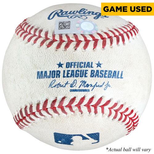Jonathan Lucroy Texas Rangers Game-Used Pitched-To Baseball