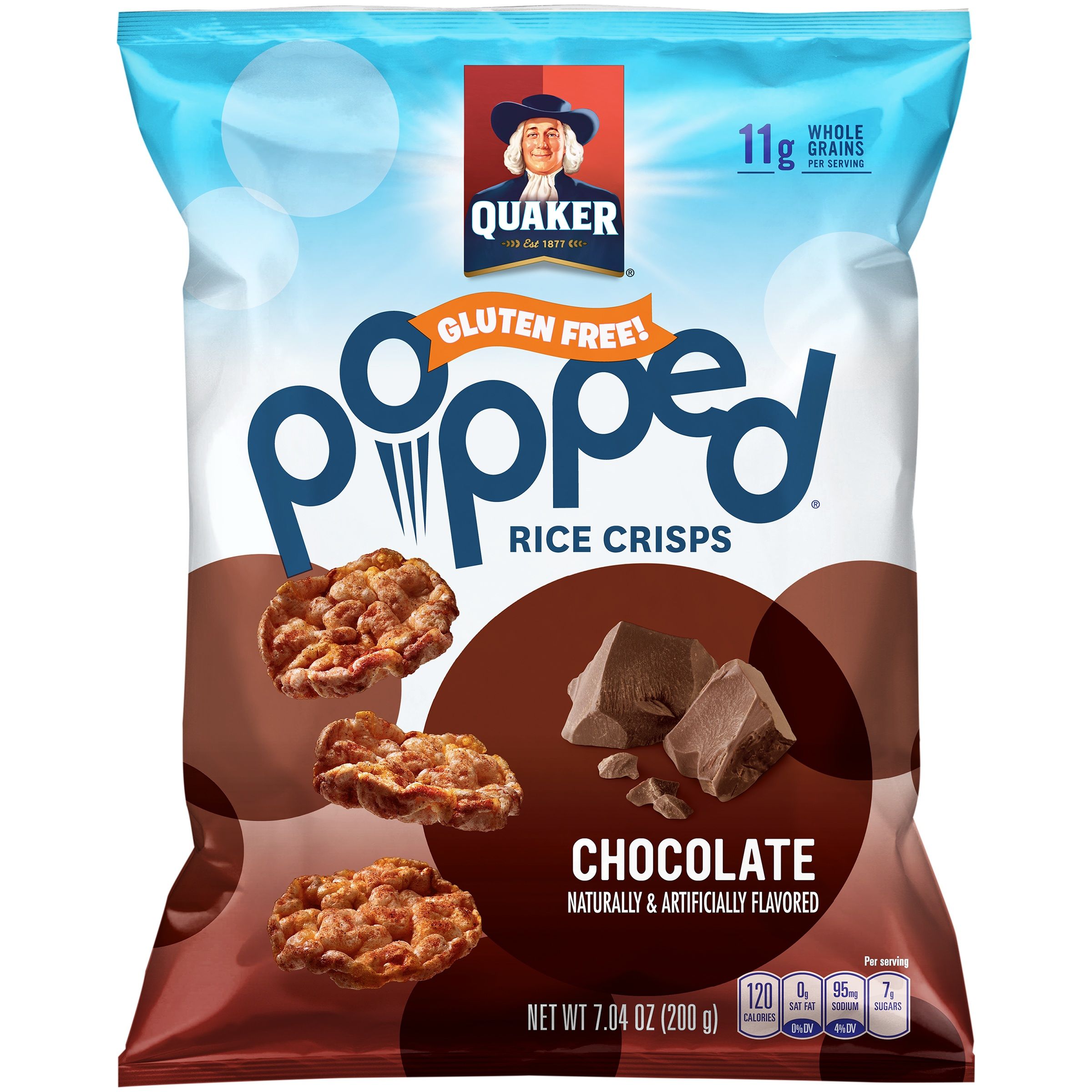 Quaker Caramel Chocolate Chip Rice Cakes Nutrition