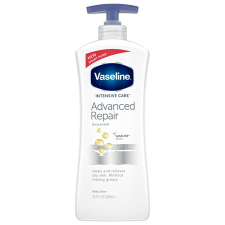 - Vaseline Intensive Care Advanced Repair Unscented Body Lotion, 20.3 oz