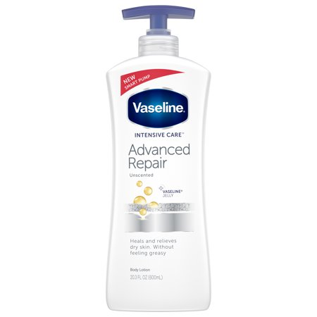 Vaseline Intensive Care Advanced Repair Unscented Body Lotion, 20.3