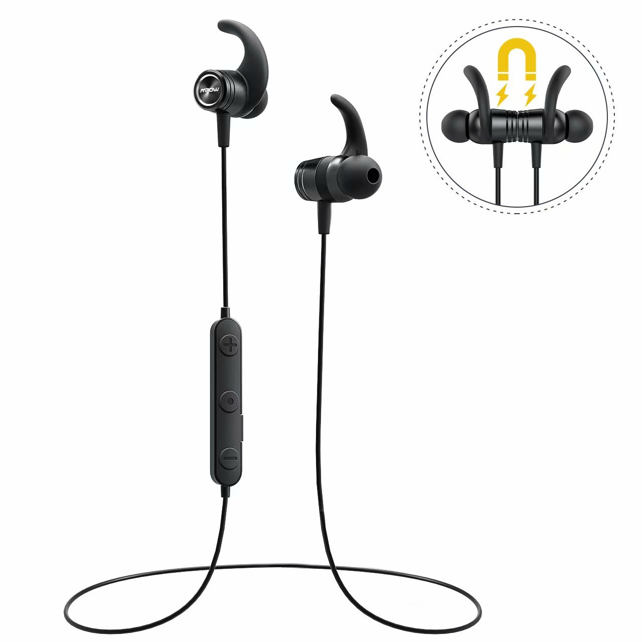 56621452626 Mpow S10 Bluetooth Headphones, IPX7 Waterproof Hi-Fidelity Audio Sports  Earbuds, Magnetic Lightweight Running Earphones w/Mic, 8 Hours Playtime  Wireless ...