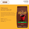 McCafe Decaf Premium Roast Ground Coffee, Medium Roast, 12 oz Bagged