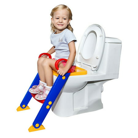 Kids Potty Training Toilet Seat With Step Stool Ladder For Toddler Child...