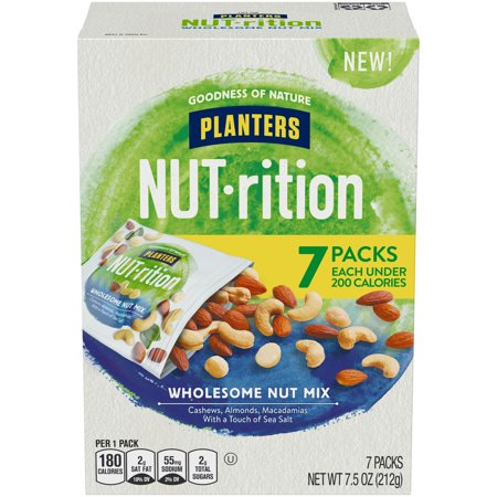 Blended Trail Mix - Planters NUT-rition Wholesome Nut Mix, 7 ct - 7.5 oz Box