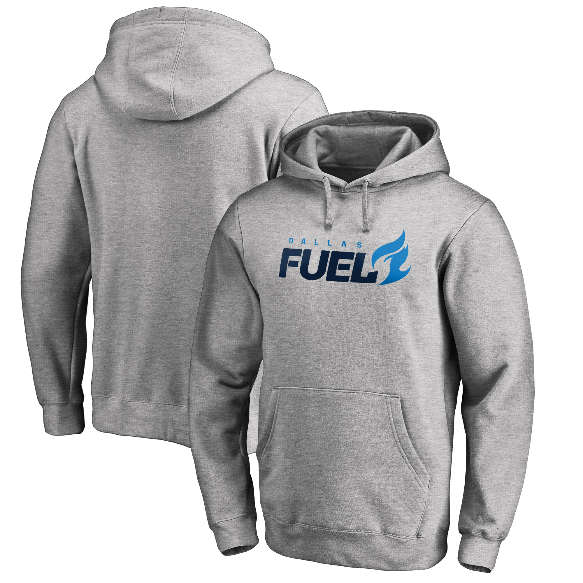 Dallas Fuel Fanatics Branded Team Identity Pullover Hoodie - Heathered Gray