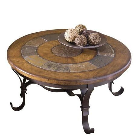 Riverside Stone Forge Round Coffee Table Walmart Com