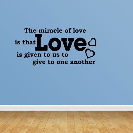 Miracle Of Love Quote Vinyl Wall Decals Love Decal Wedding Gift JP40
