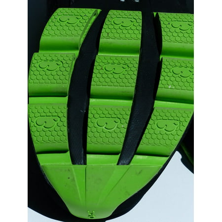 LAMINATED POSTER Grip Shoe Profile Rubber Friction Sole Green Poster Print 24 x