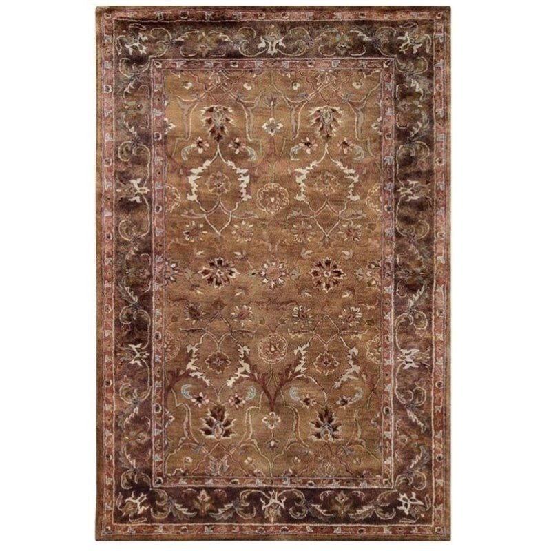 Bowery Hill 9' x 12' Hand Tufted Wool Rug in Caper
