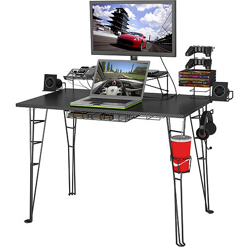 Atlantic Gaming Desk, Black