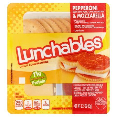 Clearly the Lunchables people don't want us parents spending too much time thinking about this stuff. So I took the liberty to type them up for you (below) straight off the package. Lunchable 1: Chicken Strips with Smoothie. Out of the three lunches highlighted here, this is .