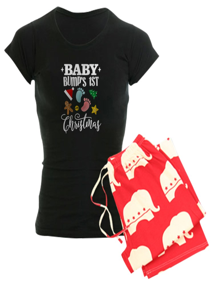 66f6a9d752cb6 CafePress - CafePress - Baby Bumps 1St Christmas Maternity Pajamas -  Women's Dark Pajamas - Walmart.com