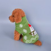 Roseonmyhand Pet Dog Cat Winter Warm Turtleneck Christmas Sweater Costume Apparel