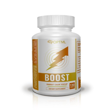 OPTML Boost | Caffeine + L-Theanine Nootropic Supplement | 120