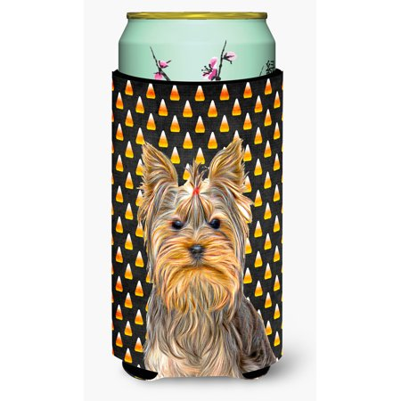 Candy Corn Halloween Yorkie / Yorkshire Terrier Tall Boy Beverage Insulator Hugger KJ1212TBC