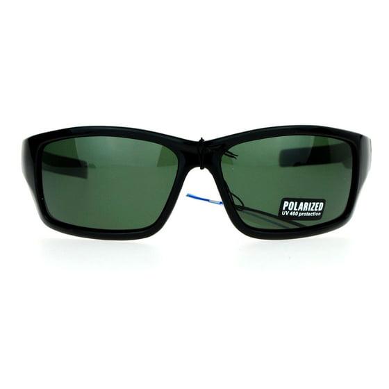 17925aa7a21 SA106 - SA106 Polarized Lens Oversize Rectangular Classic Warp Around Biker  Sunglasses Tortoise - Walmart.com