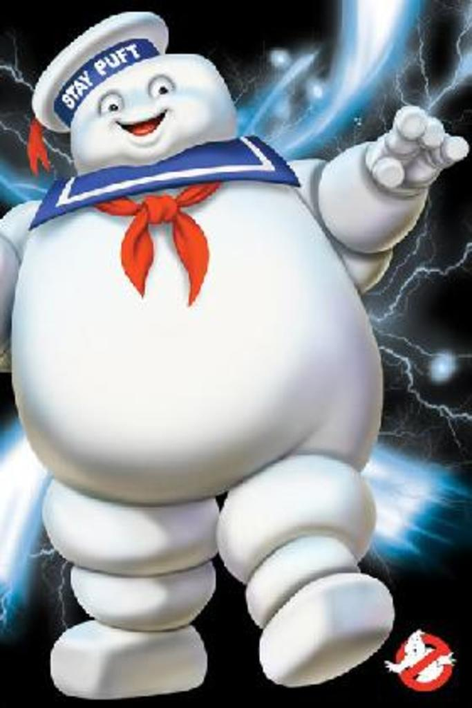 Ghostbusters Stay Puft Paranormal Monster Marshmallow Supernatural Comedy Film Movie Poster 24x36 inch by
