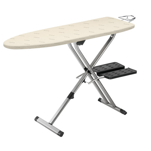 Rowenta IB9100 Pro Compact Professional Space Saving Folding Ironing Board 4-Leg with Hanger Racks and Cotton Cover, 18-Inch by