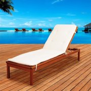 International Home Amazonia Patio Lounge in Brown and White