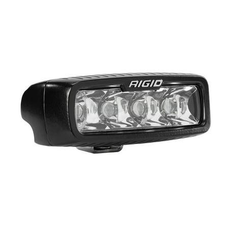 Rigid Industries 904213 SR-Q Pro Spot Light; Surface Mount; 5 in.; Hybrid; 10 Degree; 4 White LEDs; Black Rectangular Housing; Single;
