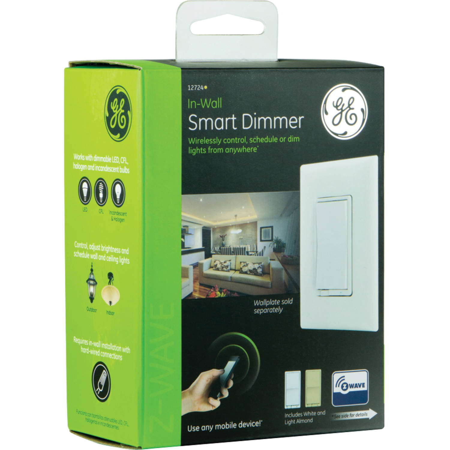 Ge 12724 In Wall Indoor Smart Dimmer Hub Required 3 Way Switch Buzzing