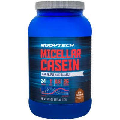 BodyTech Micellar Casein Protein Powder, Slow Release for Overnight Muscle Recovery  24 Grams of Protein per Serving  Rich Chocolate (2