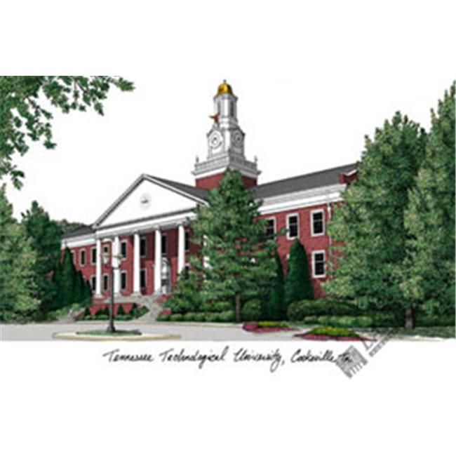 Tennessee Tech University Campus Images Lithograph Print