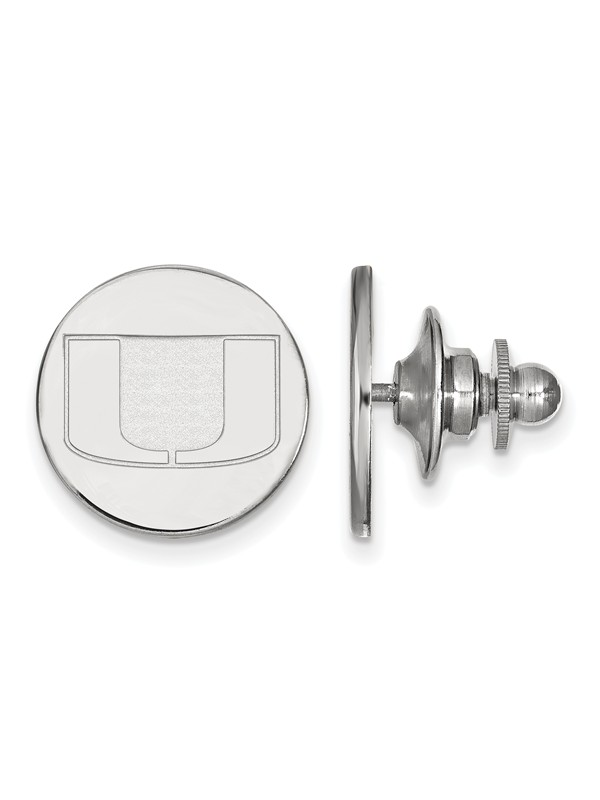 University of Miami Hurricanes Lapel Pin in Sterling Silver 2.20 gr
