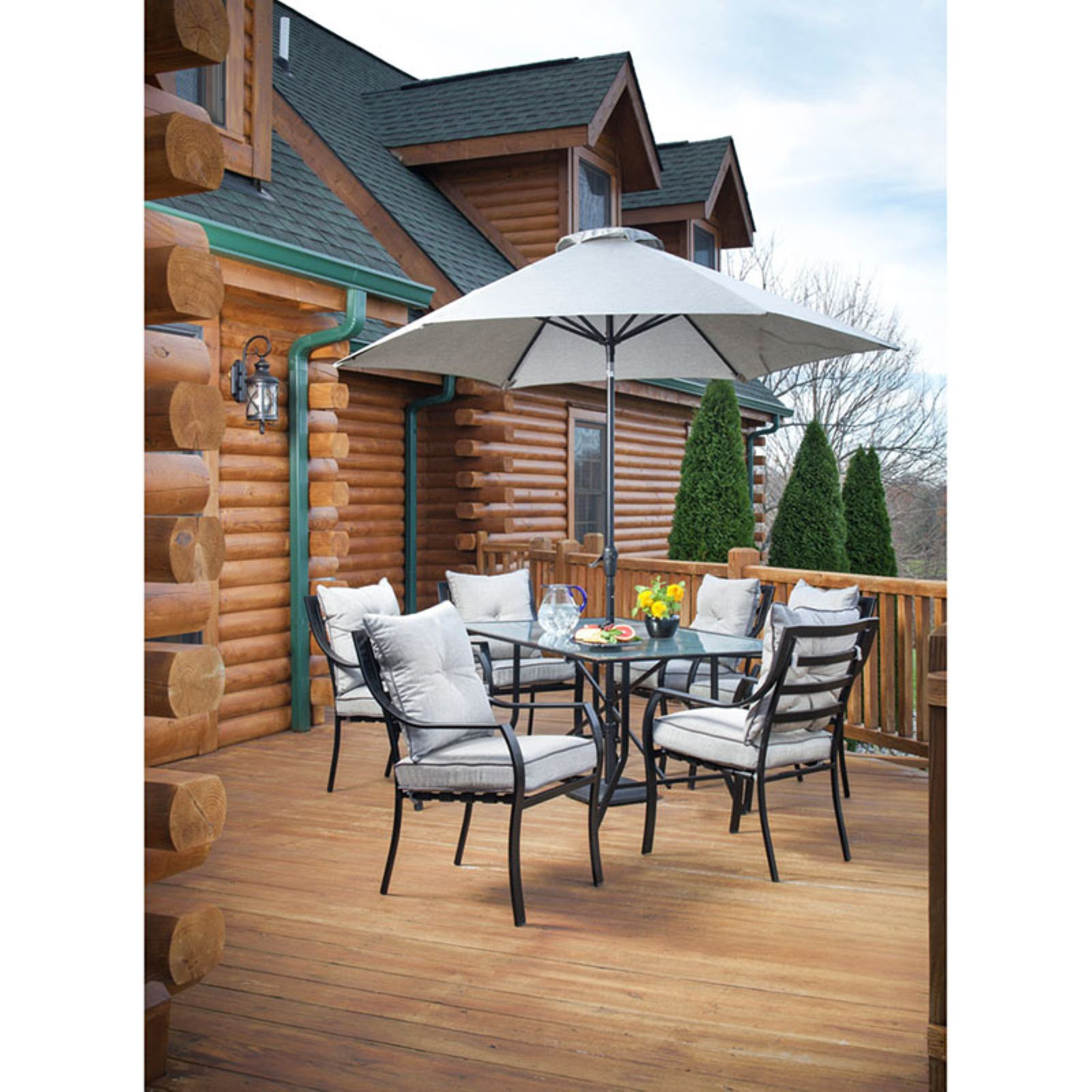 Hanover Umbrella for the Lavallete Outdoor Dining Set