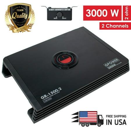 New Gravity 2 Channels 3000W Amp Class A/B Car Audio Stereo Amplifier | GR1500.2 ()