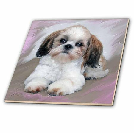 3drose Shih Tzu Puppy Ceramic Tile 4 Inch Walmartcom