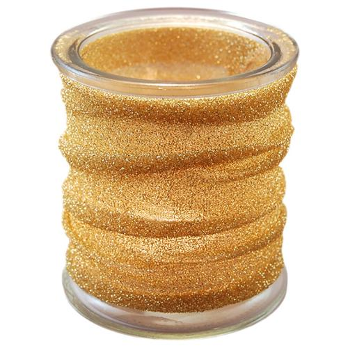 JH Specialties Inc. Gold Metallic Wrapped Glass Candle Holders (Set of 4) by Overstock