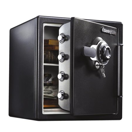 SentrySafe SFW123DTB Fire Resistant Safe and Waterproof Safe with Dial Combination 1.23 cu ft