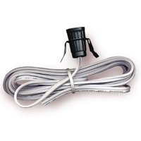 National Artcraft Lamp Cord Set With Snap-In Socket And 8' White Cord With Blunt Cut End (Pkg/5)