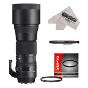 Sigma 150-600mm F5-6.3 DG OS HSM Contemporary Telephoto Zoom Lens with 95mm UV Filter and Microfiber Cleaning Cloth for Canon EOS Digital SLR Cameras