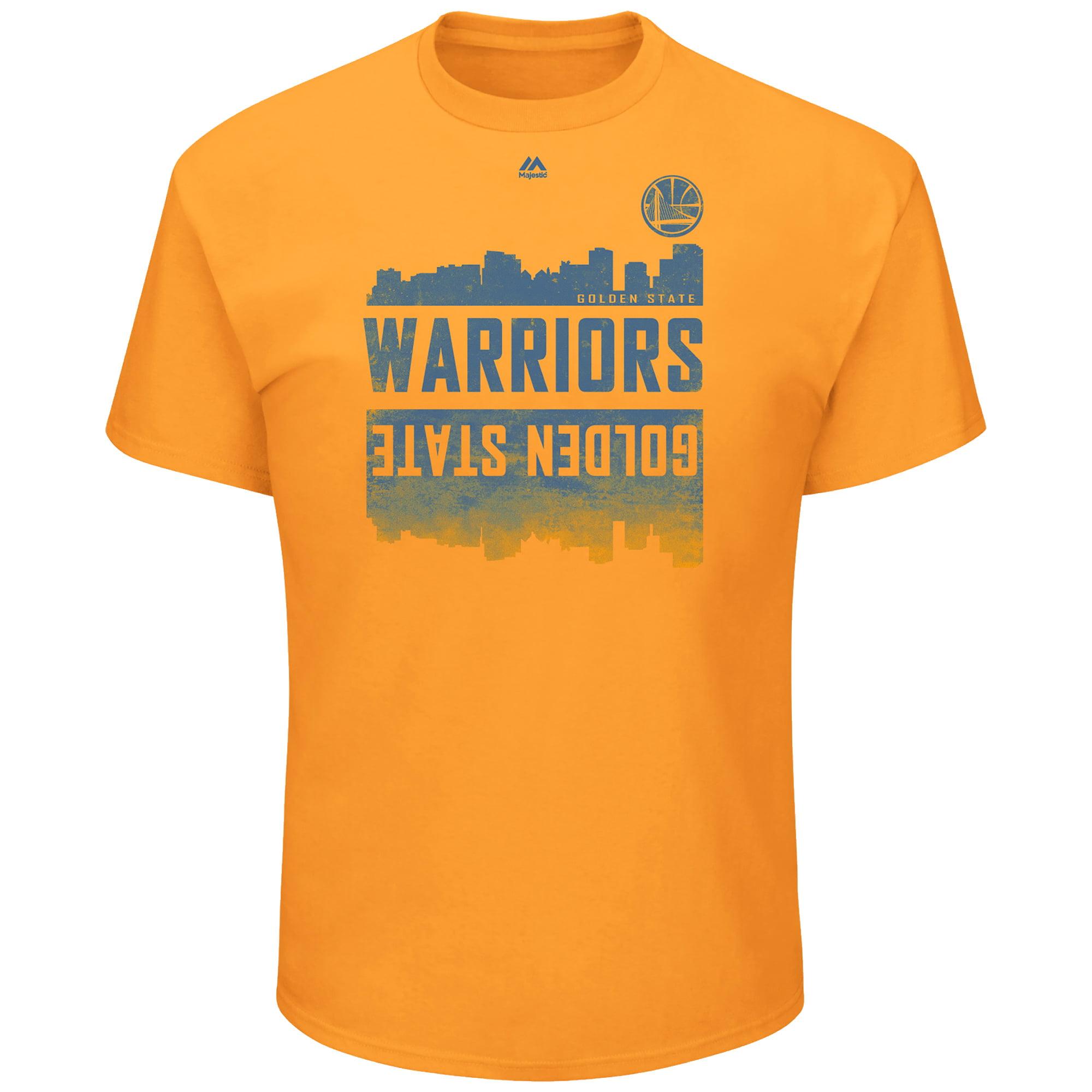 Golden State Warriors Majestic Capacity Crowd Triple Peak T-Shirt - Gold