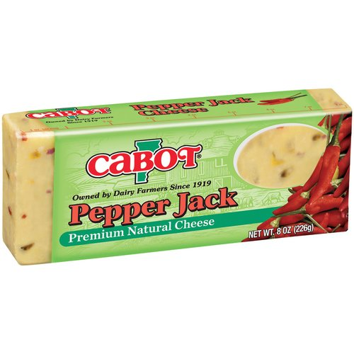 Cabot Vermont Natural Premium Pepper Jack Cheese, 8 oz