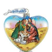 GDeBrekht 753-081 Nativity Heart Glass Ornament