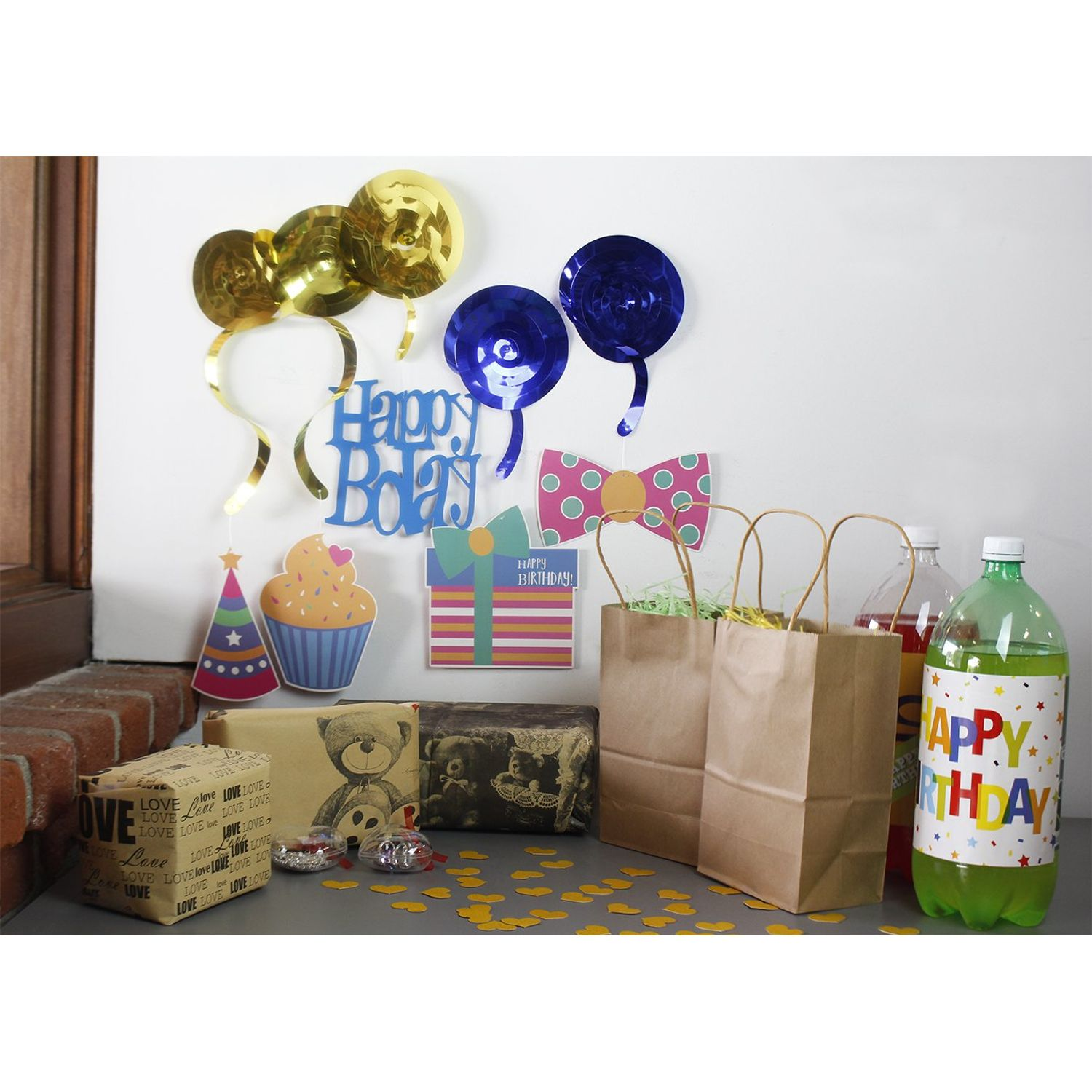 Hanging Swirl Streamers Kids and Adults Balloons and Ribbons 66-Piece Rainbow Birthday Party Supplies for Girls Boys Collect Present Happy Birthday Decorations Kit with Colorful Banner